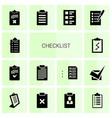 14 checklist icons vector image vector image
