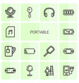 14 portable icons vector image vector image