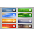 A banner set of sale vector image vector image