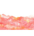 abstract pink peach watercolor hand painting vector image vector image