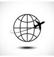 airplane air craft shipping around world vector image