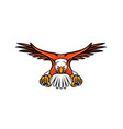 bald eagle swooping front mascot vector image vector image