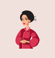 beautiful japanese woman wearing traditional vector image