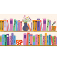 Book shelf vector image
