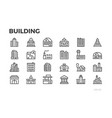 building icons city house home architecture vector image