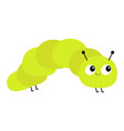 caterpillar insect icon baby collection crawling vector image vector image