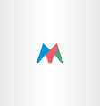 colorful m letter logotype icon symbol design sign vector image vector image