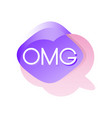 colorful transparent speech bubble with acronyms vector image vector image