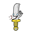 crazy knife comic cartoon character vector image vector image