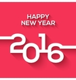 creative happy new year 2016 design flat design vector image vector image