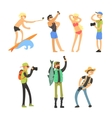 Creative People Taking Photos vector image