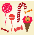 decorative candies vector image