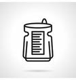 Dehumidifier black line icon vector image vector image