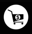 dollar shopping cart icon design vector image