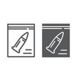 evidence line and glyph icon investigation and vector image