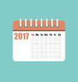 flat calendar year 2017 vector image