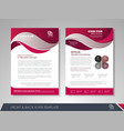 flyer design layout vector image vector image