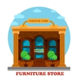 Furniture store or shop building facade vector image vector image
