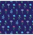 Geometric Growing Flowers Seamless Pattern vector image vector image