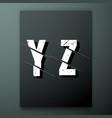 glitch letter font template