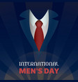 global men day concept background cartoon style vector image vector image