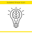 good idea linear icon vector image