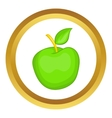 Green apple icon vector image vector image