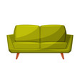 green classic sofa for cozy room interior design vector image