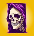 grim reaper smile vector image vector image