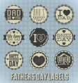 Happy fathers day labels vector | Price: 3 Credits (USD $3)