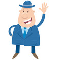 happy man or businessman cartoon character vector image