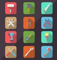 Hardware Tools Flat Icon Long Shadow vector image