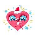heart with santa beard vector image vector image