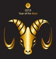 Holidays New Year of the Goat 2015 vector image vector image