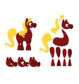 horse set for animations vector image