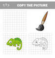 iguana to be colored coloring book for children vector image vector image