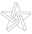 impossible star vector image vector image