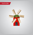 isolated ecology flat icon propeller vector image