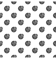 Italian pizza pattern simple style vector image