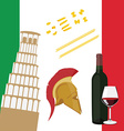 Italy icon set vector image vector image