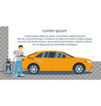 Man washing car vector image vector image