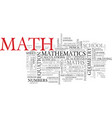 math word cloud concept vector image vector image
