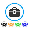 medkit rounded icon vector image vector image