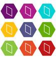 metal-plastic window frame icons set 9 vector image vector image