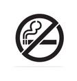 no smoking icon concept for design vector image vector image