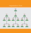 organization chart info graphics design vector image vector image