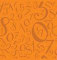 pattern modern hand written numerals vector image