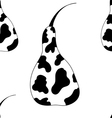 Pear cow pattern vector image