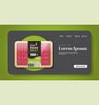 plant based vegetarian salami slices beyond meat vector image vector image
