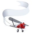 Retro airplane with banner vector | Price: 3 Credits (USD $3)